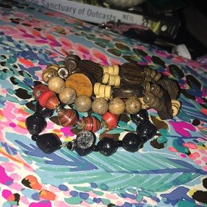 Bundle of 4 boho bracelets